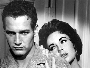 Academy Award winning actress Elizabeth Taylor with Paul Newman in the 1958 film