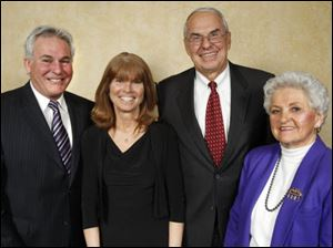 Jefferson Award recipients from left, Duke Wheeler, Kim Holmes, Richard R. Faist, and Mary Lou Leonard.