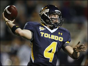 Austin Dantin, left, led Toledo last season until he was hurt.