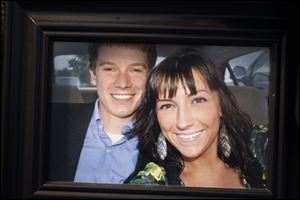 Ian Huffman died and his girlfriend, Olivia Duty, was injured.