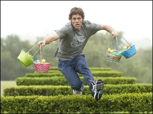 Fred O'Hare (James Marsden) is conned into helping the Easter Bunny in the live action and animated comedy 'Hop,' which features the voice talents of Russell Brand and Hank Azaria.