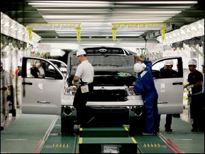 This Toyota plant which makes the Tundra truck in San Antonio, Texas is one likely to close because of parts shortages.