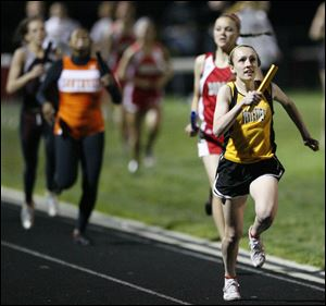Alison Work, shown here in a May 2010 race, recently took fifth place in the 800-meter at the indoor state track and field championships at the University of Akron.