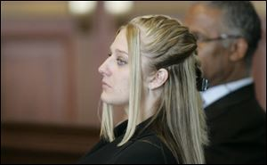 Jayme Schwenkmeyer, shown here in court in August 2010, was sentenced Tuesday to four years in prison for the overdose death of her child.