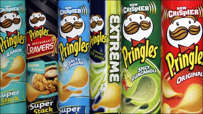 "Pringles P&G Diamond Procter&Gamble said the Pringles deal will likely be part of a ""split-off"" transaction in which stockholders can choose to take part in an exchange offer, swapping Procter&Gamble shares for Diamond stock."
