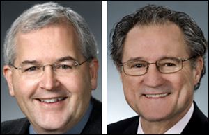 Reps. Mike Foley (D., Cleveland), left, and Bob Hagan (D., Youngstown) propose allowing Ohio voters to recall officials.