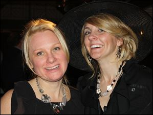 Michelle Evans, event co-chairman, and Beth Utz, founder of the Loeys-Dietz Syndrome Foundation, at the ACT BG spring fashion show.