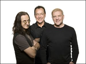 Rush members, from left, Geddy Lee, Neil Pert, and Alex Lifeson.