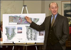 In 2000, developer Frank Kass presented a plan that included the construction of a sports arena.