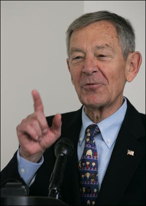 'I'm not there. I don't know what the options are. I'm not going to … Monday-morning quarterback,' ex-Gov. George Voinovich says.