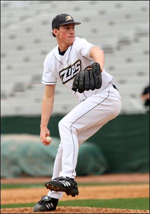 Chris Bassitt, who had been a starting pitcher at Genoa, has become the closer for the University of Akron.