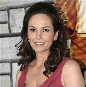 Diane Lane arrives at the premiere of the feature film 'Cinema Verite' Monday in Los Angeles. The HBO movie is s