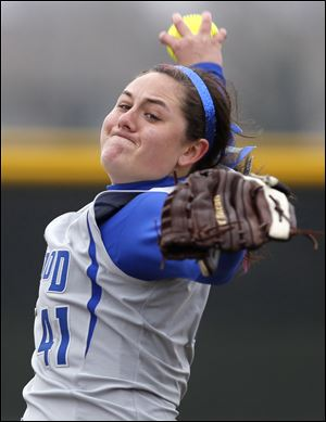 Marissa Lee has been a four-year starter for Elmwood. Lee had a 19-6 record with a 2.47 ERA last season.