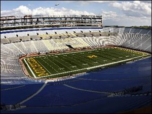 The University of Michigan football team will play its spring game on Saturday.