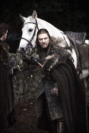 Sean Bean plays Ned Stark, patriarch of the family at the heart of the 'Game of Thrones' novels and television series.