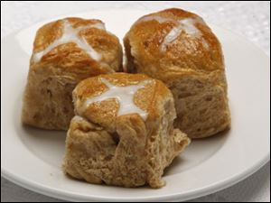 Hot cross buns are a Good Friday tradition.