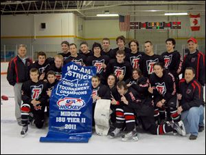 The Team Toledo U18 hockey team after their state championship win in March. The team later finished second at the national tournament.