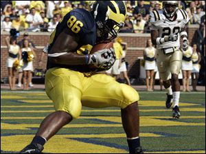 Tight end Kevin Koger has caught 36 balls in his three seasons with the Wolverines. As he enters his senior season, offensive coordinator Al Borges believes Koger can catch 30-plus balls with Michigan's revamped offense.
