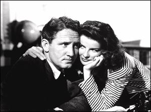 Spencer Tracy and Katherine Hepburn in 'Woman of the Year.'