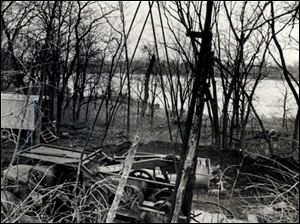 This oil well in Waterville, Ohio, shown on Jan. 11, 1983, was capped because its closeness to the Maumee River raised pollution concerns.