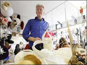 Philip Treacy, an Irish milliner seen in his London workshop, has been commissioned to do several of the royals' hats for the wedding of Prince William and Kate Middleton, as well as the bridesmaid's headpieces.