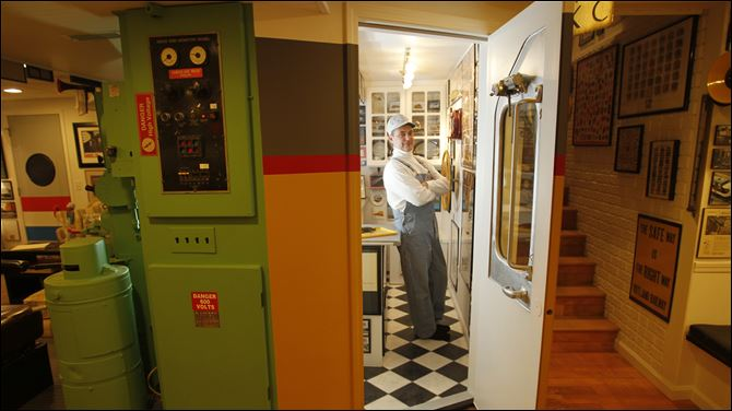 My Space Steve Rathke train museum Steve Rathke, who works as a train engineer, is pictured in the kitchen area of a special room in his home that, like a museum, is filled with train items and memorabilia.