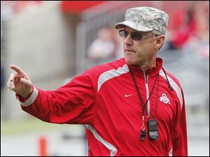 Jim Tressel roamed the sidelines during the spring game last week. It may be the last time he gets to do that as the Buckeyes' coach.