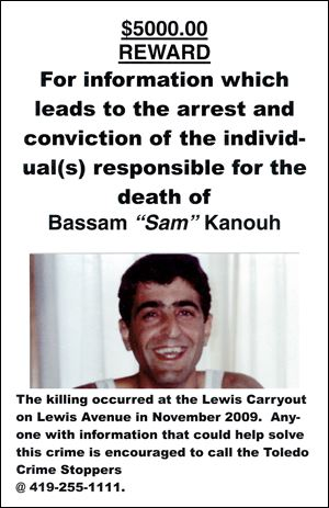 Bashar Kanouh, the victim's brother, designed the poster that family members distributed.