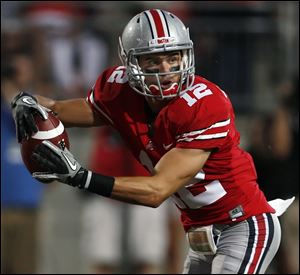 Dane Sanzenbacher was a captain at Ohio State and had 115 catches for 1,811 yards and 18 touchdowns in his Buckeyes career.