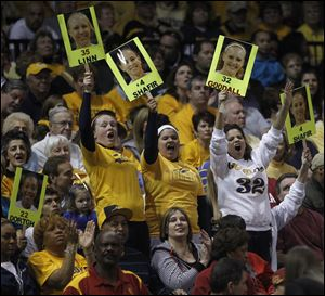 Fans packed Savage Arena during the Toledo women's basketball WNIT run, selling out the semifinal and championship contests.