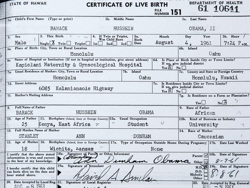 White House releases long form of Obama birth certificate - The Blade