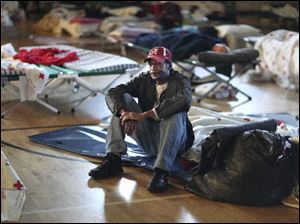 Edward Pyles is among hundreds of people in Tuscaloosa, Ala., who were displaced by the tornadoes and storms that struck the South.