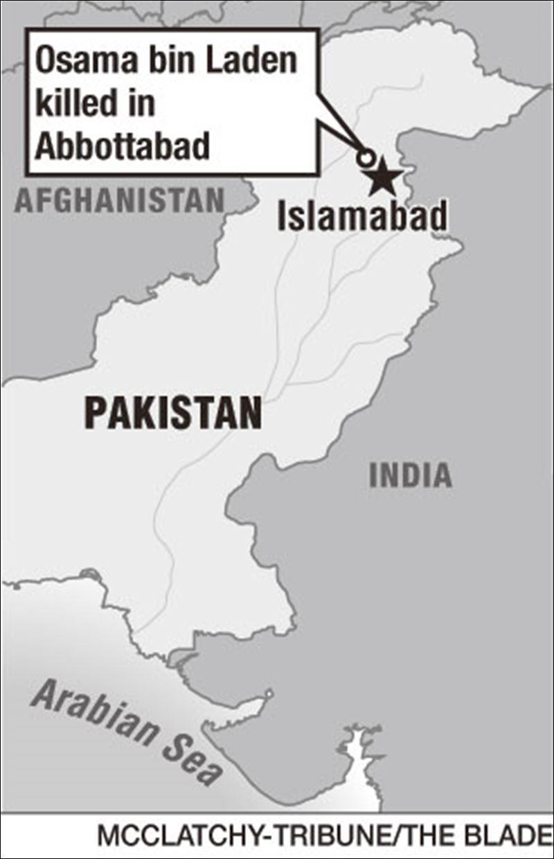 Osama Bin Laden House In Pakistan Map