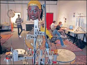 The Cal Arts Robot Orchestra is the creation of Michael Darling and Ajay Kapur.