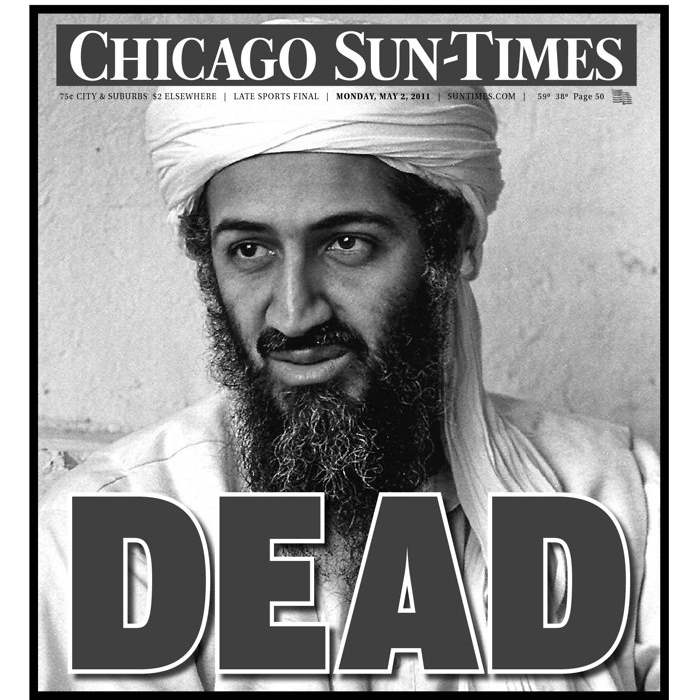Newspaper Front Pages on bin Laden's Death - The Blade