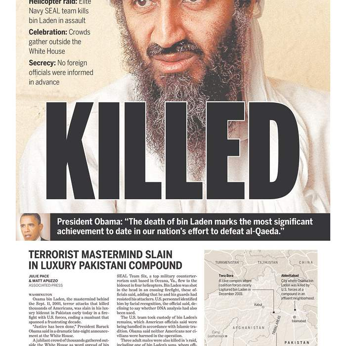 Newspapaer-San-Diego-Union-Tribune-bin-Laden