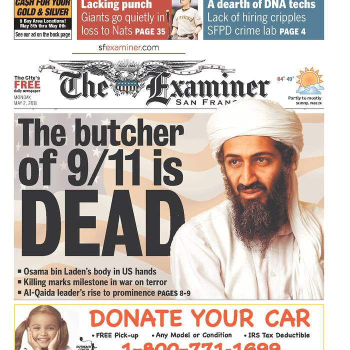 Newspaper-San-Francisco-Examiner-bin-Laden
