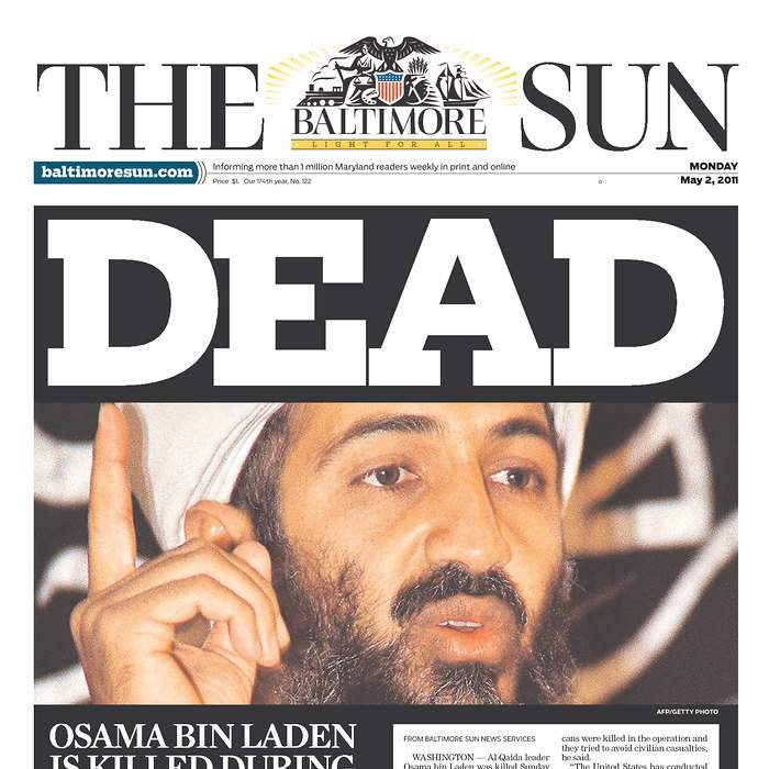 Newspaper-Baltimore-Sun-bin-Laden