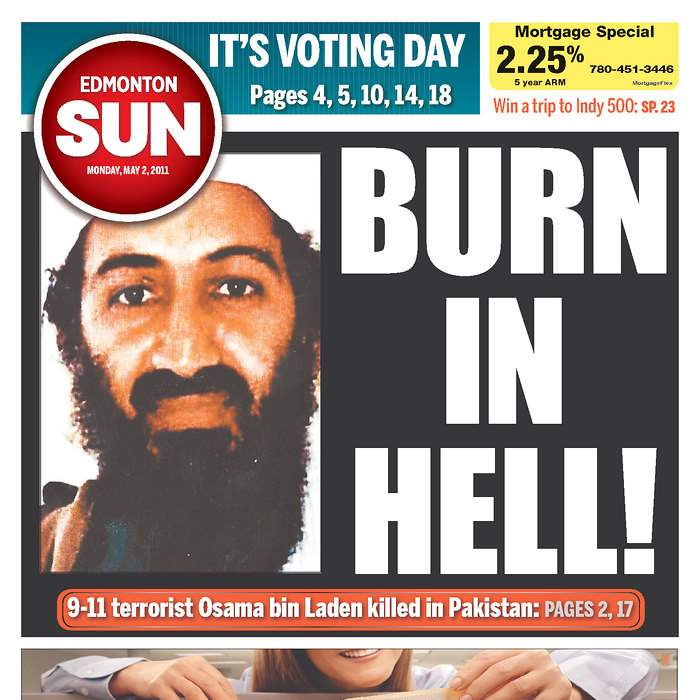Newspaper-Edmonton-Canada-Sun-bin-Laden