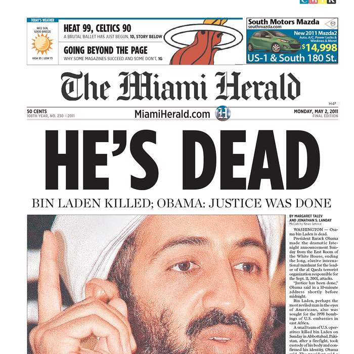 Newspaper-Miami-Herald-bin-Laden