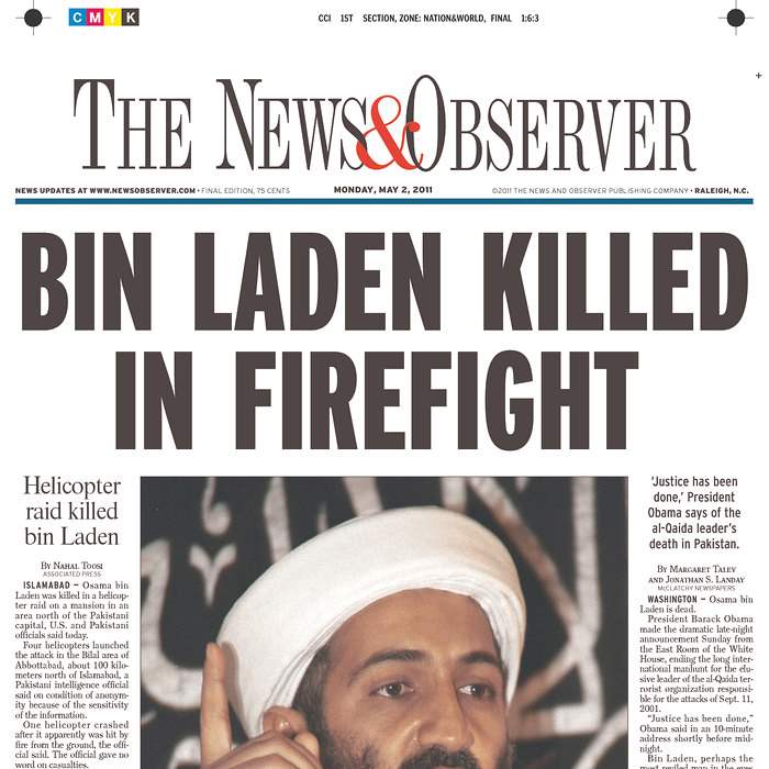 Newspaper-News-Observer-bin-Laden