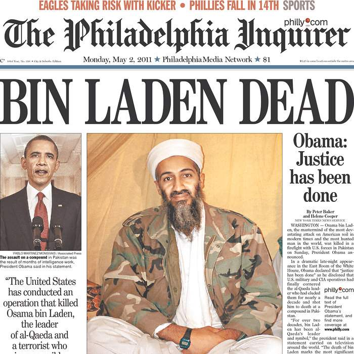 Newspaper-Philadelphia-Inquirer-bin-Laden