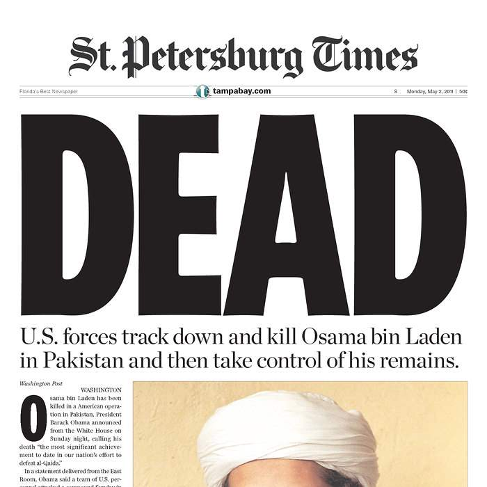 Newspaper-St-Petersburg-Times-bin-Laden
