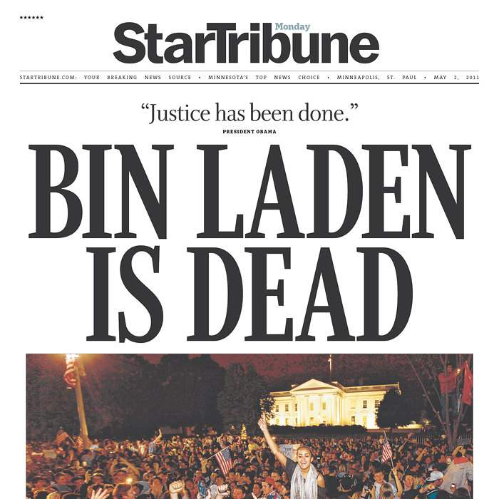 Newspaper-StarTribune-bin-Laden
