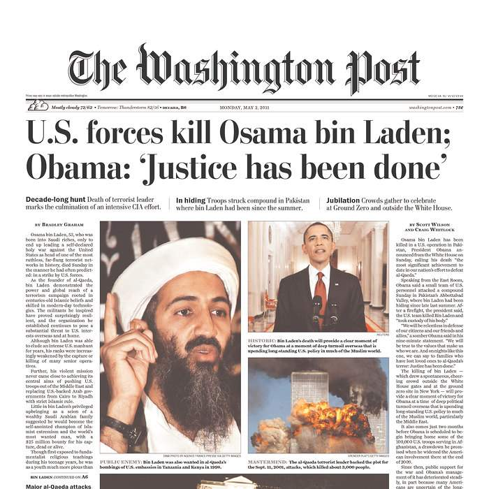 Newspaper-Washington-Post-bin-Laden