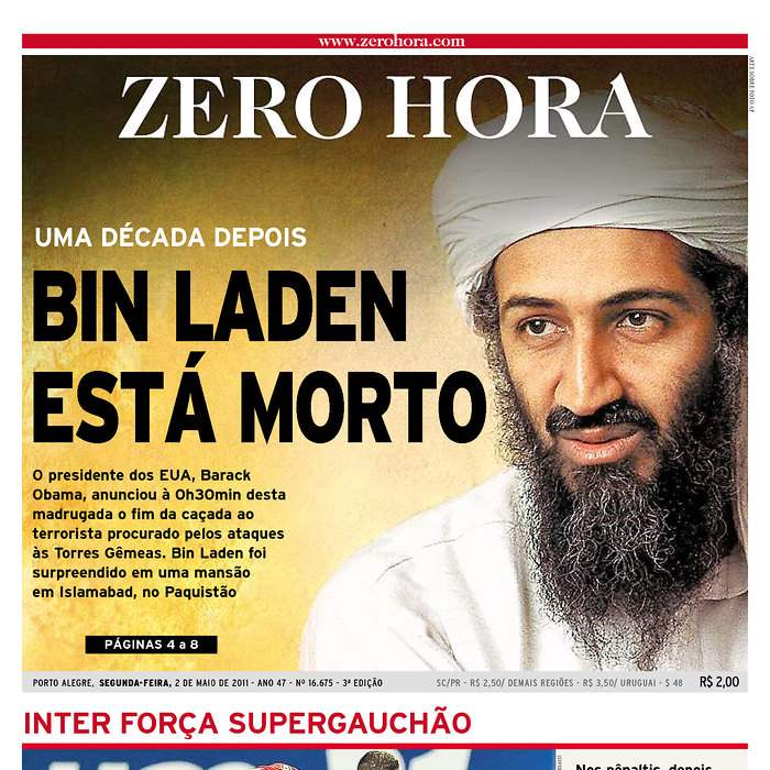 Newspaper-Zero-Hora-bin-Laden