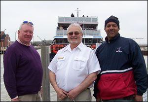 TYC's Vice Commodore Jim Balogh, TYC's Rear Commodore Barry Vincent, and Cavanaugh Bryd at River View Yacht Club Day.