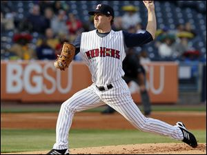 Toledo's Adam Wilk pitches against the Charlotte Knights.