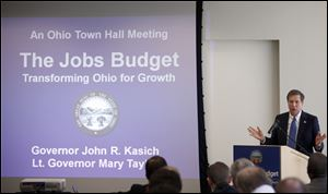 Ohio Gov. John Kasich's proposed budget was $70 million lighter than the one passed by the House.