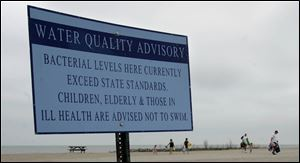 The public has been left hanging, wondering whether swimming advisory signs are staying up too long or coming down too soon.